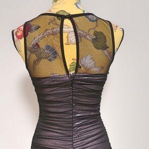 XOXO Dresses - XOXO Sheer Mesh Bodycon Dress Black Size Small